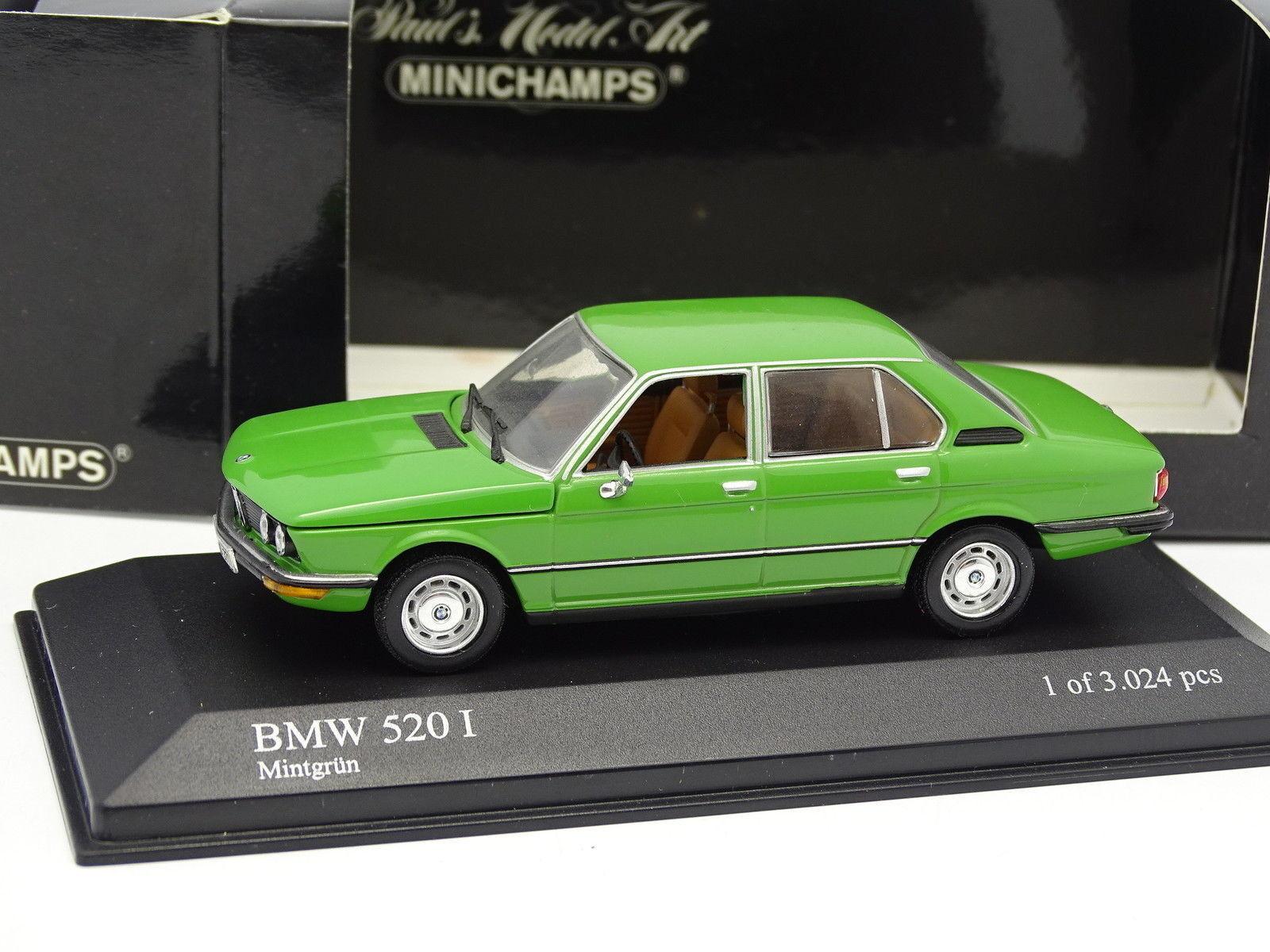 Minichamps 1 43 - BMW 520 I E12 Verte