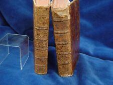 Zwei Bücher datiert 1756. *SERMONS DU PERE BOURDALOUE* Ledereinband, Gold, Buch
