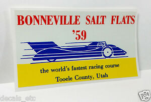 BONNEVILLE SALT FLATS '59  Vintage Style DECAL, Vinyl STICKER, rat rod, racing