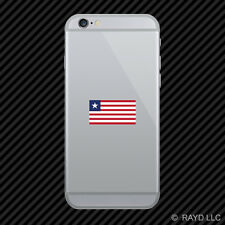 Liberian Flag Cell Phone Sticker Mobile Liberia LBR LR