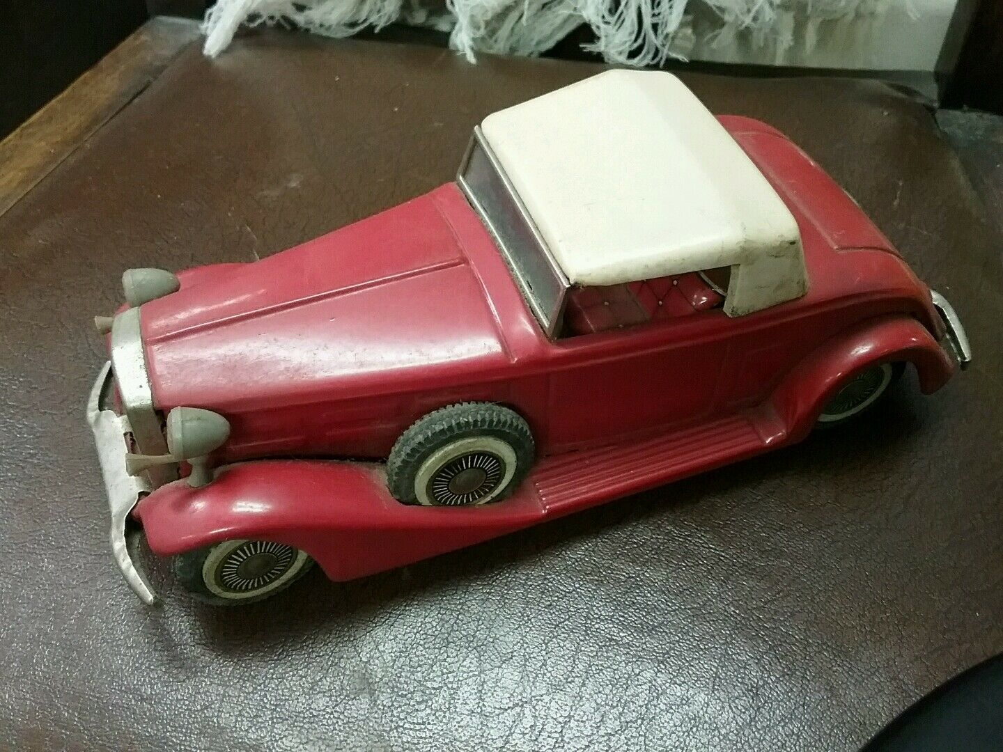 BANDAI 1933 CADILLAC Red TIN LITHO FRICTION FRICTION FRICTION TOY MADE IN JAPAN 7f66fb