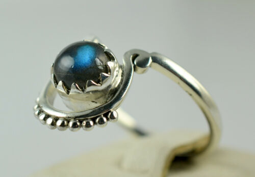 Flashy Labradorite Silver Ring 925 Solid Sterling Silver Jewelry Taille 3-13 US