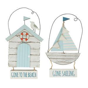 Seaside-refranes-Colgante-de-Decoracion-de-barco-Cabana-de-Playa-Blanco-Azul-Madera-Madera-a-la