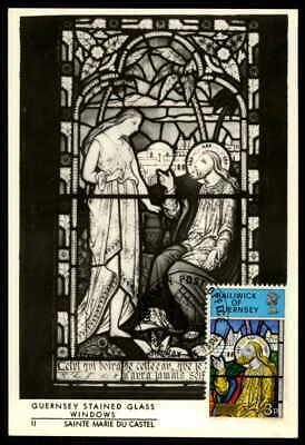 Guernsey Mk 1973 Kunst Kirchenfenster Maximumkarte Carte Maximum Card Mc Cm Ep11
