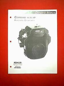 kohler command 18 26 hp twin cylinder horizontal shaft engine