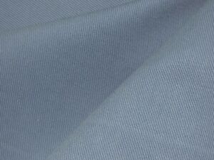 Solid Cotton Twill Woven Textile Slate Blue Home Decor Upholstery
