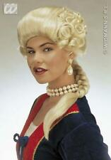 Ladies Blonde Plait Wig Regal Dutchess Medieval Fancy Dress