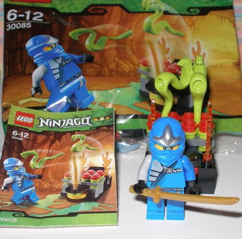 Lego 30085 Ninjago Blauer Ninja Jay mit Schwert und Zubehör OVP
