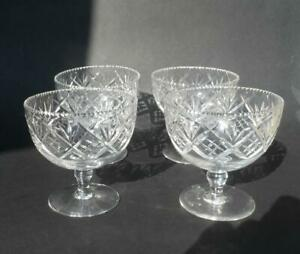Antique-cut-glass-crystal-footed-dessert-bowls-set-of-4-antique-dessert-bowls