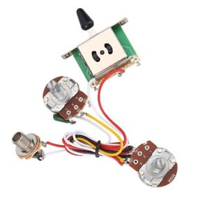 1 set electric guitar wiring harness prewired kit 3 way toggle switch 500k ebay. Black Bedroom Furniture Sets. Home Design Ideas