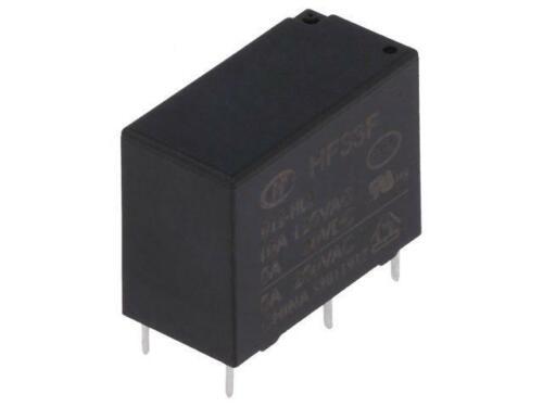 2x HF33F//012-HL3 Relais électromagnétique SPST-NO ucoil 12VDC 5A//250VAC Hongfa Relay