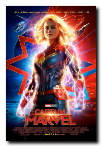Full Color Print Ready To Frame Captain Marvel Official Movie Poster