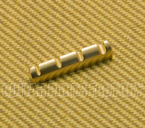 BN-N3CR-B 43mm Slotted Polished Brass 4-String Bass Nut