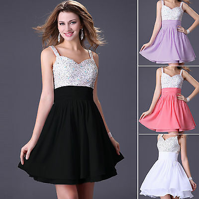 Mini Short Sexy Cocktail Evening Dress Party Bridesmaid Bridal Prom Ball Gown