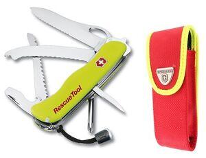 VICTORINOX-0-8623-MWN-Multi-Funktion-Werkzeug-Saege-Gurt-Messer-Etui-Rescue-Tool