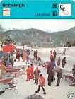 FICHE CARD: Les pistes Saint-Moritz Winter sport Bobsled Bobsport Bobsleigh 70s