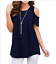Womens-Summer-Cold-Shoulder-Tee-Top-Short-Sleeve-Blouse-Casual-T-Shirt-Plus-Size thumbnail 15