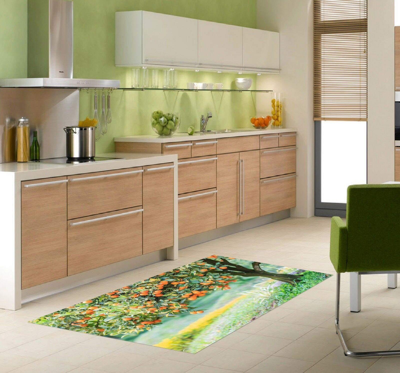 3D Fruit Trees Lawn 711 Kitchen Mat Floor Murals Wall Print Wall Deco UK Carly
