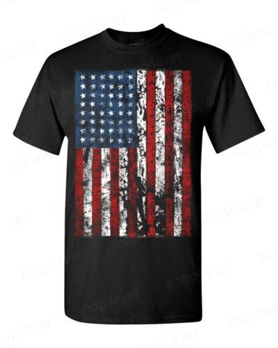 American Flag vintage T-SHIRT 4th of July American Patriotism USA flag men/'s tee