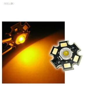 5x-POWER-LED-Chip-STAR-Platine-3W-GELB-HIGHPOWER-yellow