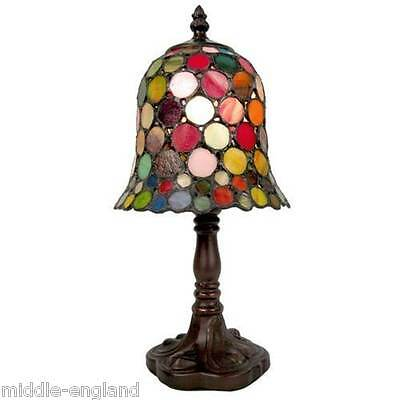 """TIFFANY STYLE TABLE LAMP 12.5"""" SPOT DESIGN 8""""GLASS SHADE + BULB * BUY 2 SAVE 10%"""