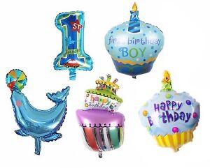 5 X Folienballon Boy Geburtstag Baby Party Luftballon Set Cupcake 1