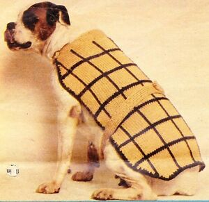 DOG COAT Boxer or Large dog / quick knit - dog coat knitting pattern eBay