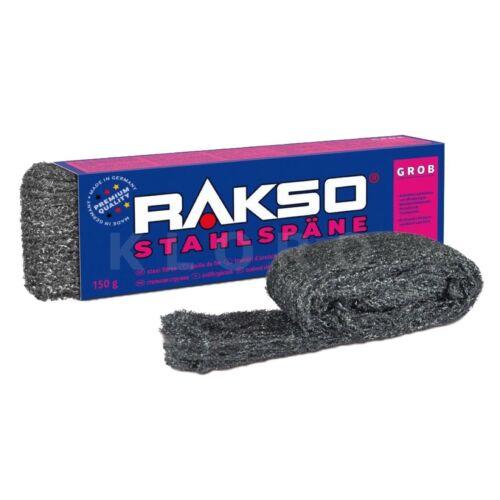 RAKSO Stahlspäne   Sorte grob   1 Paket mit 150 g    030303 50,93€//1kg
