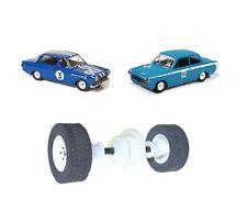 Scalextric W10218 Eje Trasero Rodamientos De Ruedas & Neumáticos Lotus Cortina de Ford MK1 C3210