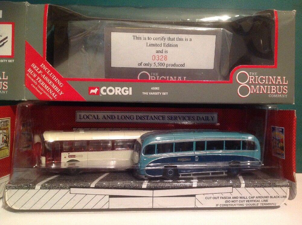 Corgi Original Omnibus 45002 The Varsity Bus set LTD Edition No. 0328 of 5500