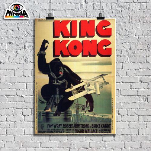 POSTER VINTAGE LOCANDINA  KING KONG  MOVIE FILM CINEMA  TOP QUALITY GRAPHICS