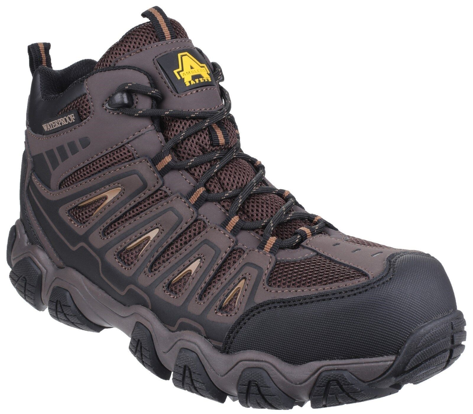 Amblers AS801 Rockingham Hombre Marrón botas Leather Waterproof Safety Hikier botas Marrón 631bba