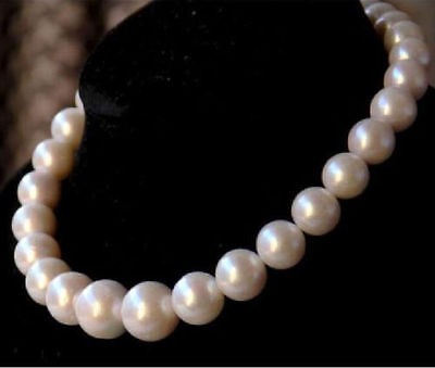 GORGEOUS HUGE 13-15MM SOUTH SEA ROUND GOLD PEARL NECKLACE 18INCH