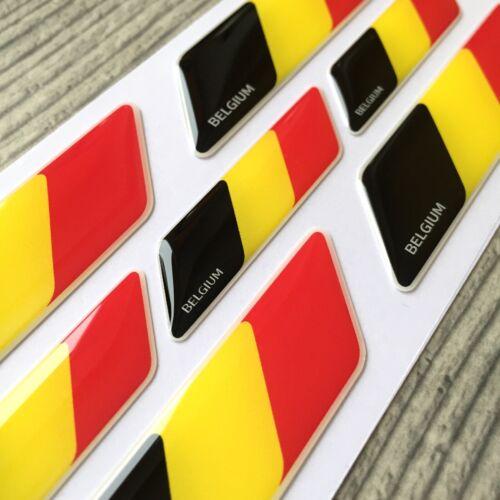 Belgium flag 3d domed emblem decal sticker car tuning BMW Ferrari Porsche VW