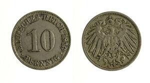S1156_79) Germany 10 Pfennig 1913 A Prix ModéRé