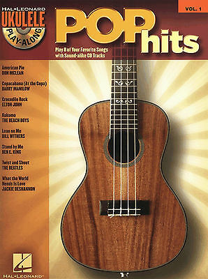 UKULELE - POP CHART HITS Sheet Music Book & Playalong CD Includes SLOW DOWNER!