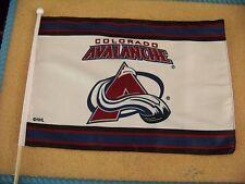 "Colorado Avalanche stick flag 17"" x 12.25"", 23.5"" wood stick"