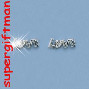 E625-Boucles-d-039-oreilles-OORBELLEN-argent-massif-LOVE