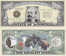 10 Wyoming WY Collectible State Quarter Novelty Bills