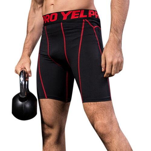 Mens Compression Shorts Gym Base Layer Pants Workout Sport Under Running Pants/&