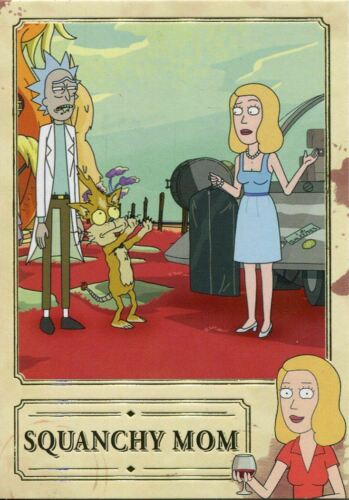 Rick /& Morty Season 2 Beth Knows Best Chase Card BKB01 Squanchy Mom