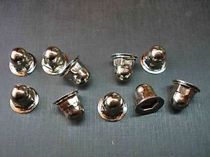 10 pcs 10-24 nickel plated moulding clip acorn nuts NORS GM GMC