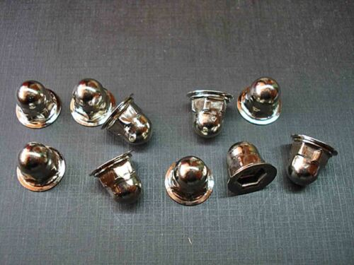 10 pcs 10-24 nickel plated moulding clip acorn nuts NORS Ford Lincoln Mercury