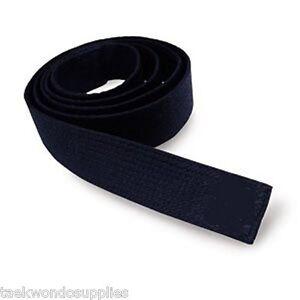 "ProForce 1.5/"" Double Wrap Black Stripe Karate Belts Judo Taekwondo Tkd"