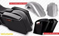 Harley Extended Saddlebags Abs 4 Plastic W/ Extended Steel Fender Kit