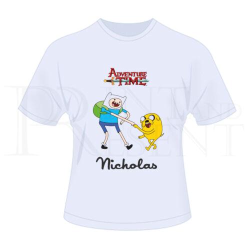 blanc Personnalisé garçons adventure time t-shirt