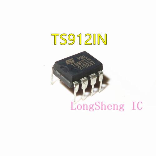 5PCS  TS912IN IC OP AMP R-R DUAL 8-DIP 912 TS912 new