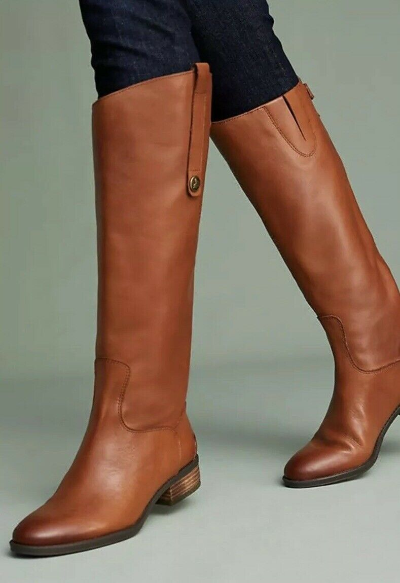 150 Anthropoogie Sam Edelman 6 Wide Calf Brown Leather Penny Tall Riding Boots