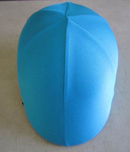 Horse Helmet Cover ALL AUSTRALIAN MADE Sky blue//Teal /& Yellow Any size you need
