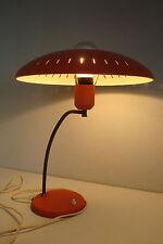 ORIGINALE 50er anni arancione Lampada da tavolo di Philips Louis Kalff